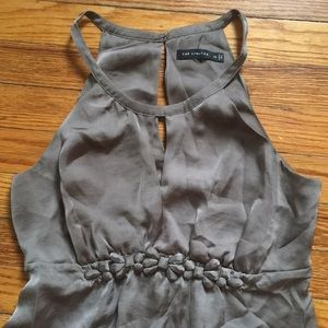 The Limited Tops - The Limited formal tank back cut out gray XS